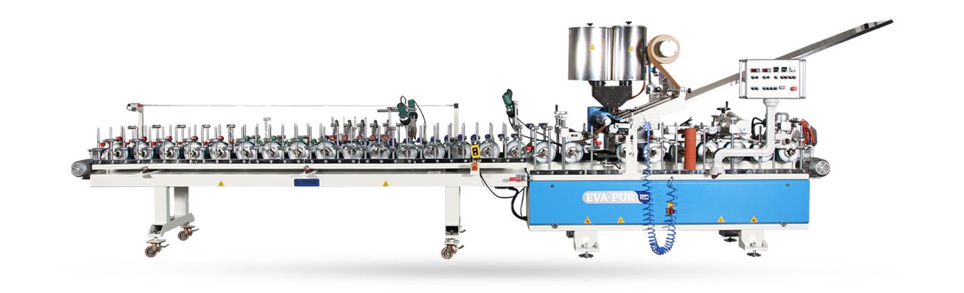 VE 350 KL6.5-WMP - Po-Eva Tutkallı Kasa Pervaz Sarma Makinesi Kasetli, 2.5+4m