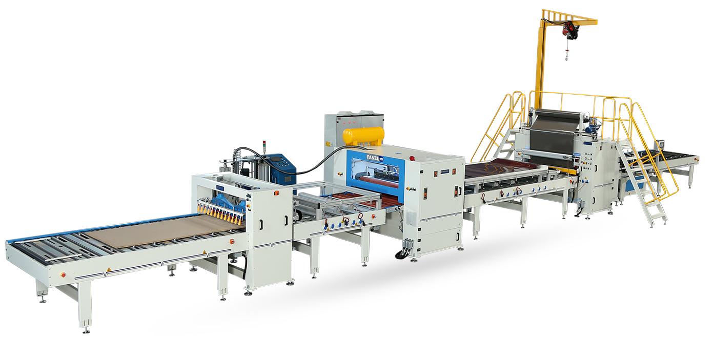 VFL-1400-RL-Reverse Merdaneli Yarı Otomatik Flat Laminasyon Hattı Makinesi
