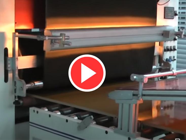 Flat laminasyon hattı videosu