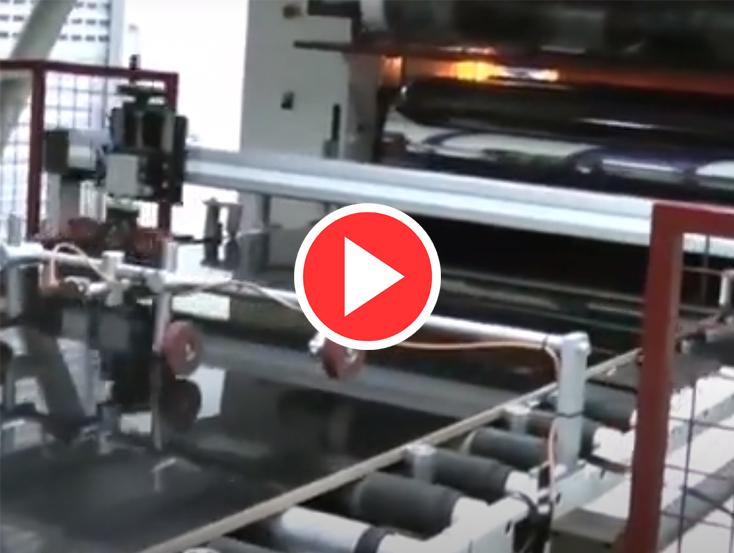 otomatik folyo kesme makinası video