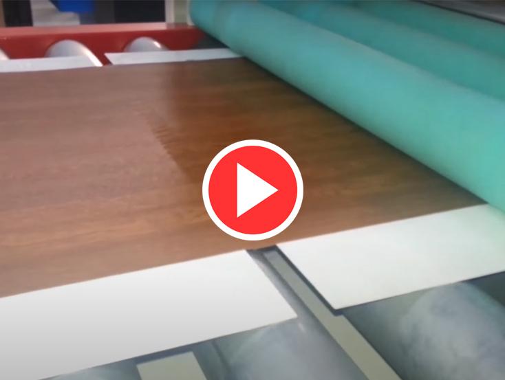 PVC Laminasyon Makinesi Videosu